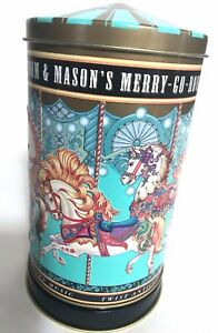 Fortnum-amp-Mason-039-s-Carousel-Music-Tin-Box-Embossed-Tune-Entertainer-England-7-034-x4-034
