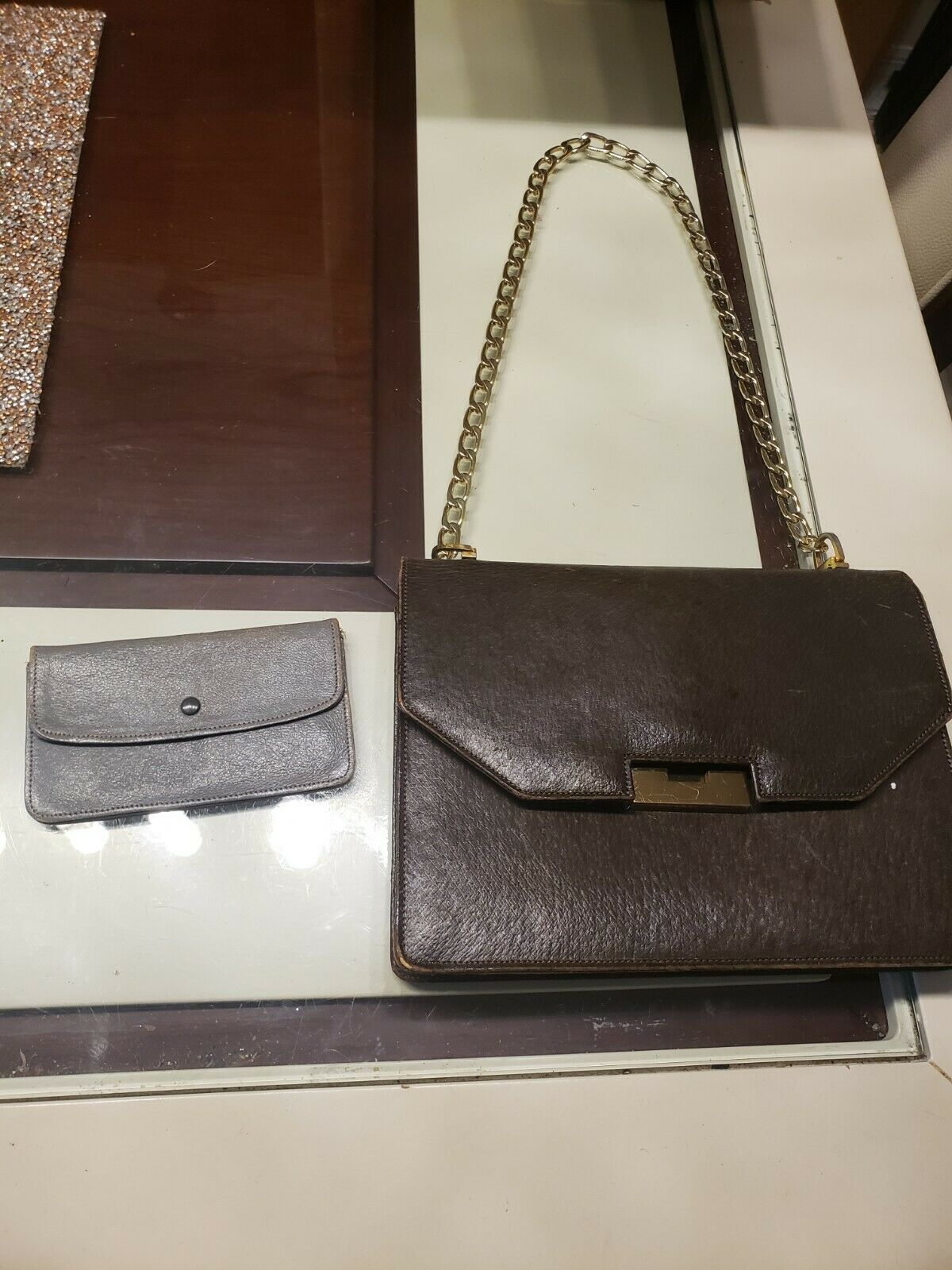 Vintage GUCCI Classic Brown Kelly Purse Handbag T… - image 1