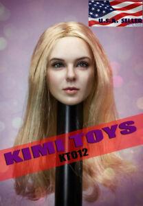 1/6 tête féminine sculpter les cheveux blonds Kt012 pour la figurine chaude de 12 1/6 Female Head Sculpt Blonde Hair Kt012 For 12