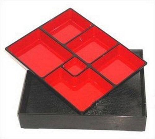 "2 Piece Lacquer Japanese Bento Box 14/""x10 1//2/"" x 2 1//2/"""