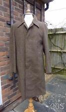 Vintage Irish Tweed Brown Check Wool Overcoat by Dunn & Co