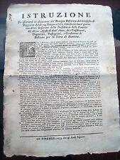 1753 RARISSIMO BANDO SULLA FIERA DI BIENTINA NEL PISANO