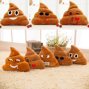 1X Funny Emoji Cushion Poo Shape Poop Stuffed Doll 17x15cm Toys Gifts Home Decor