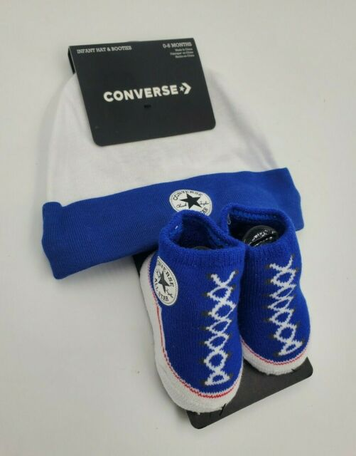 Converse Chuck Taylor Baby Boys Hat & BOOTIES Gift Set 0-6 Months ...