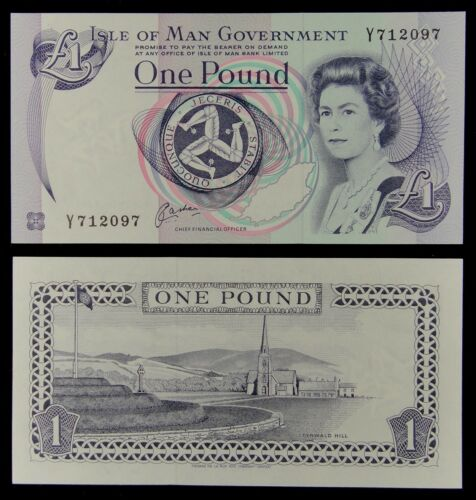 Isle of Man Paper Money 1 Pound 1983 UNC