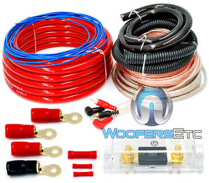0 gauge 6000 watt car pro complete amp wire amplifier install wiring rh ebay com 0 gauge amp wiring kit 0 gauge wiring kit for sale