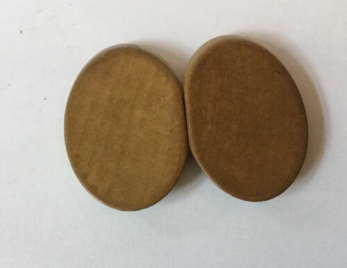 Simple Design Nurses Buckle Vintage CZECH Wooden Belt Buckle 1940s 1950s