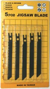 Jig-Saw-Sabre-Scroll-Assortment-Blades-Sabre-Saw-Blades-5pc-for-Hitachi-Jigsaw