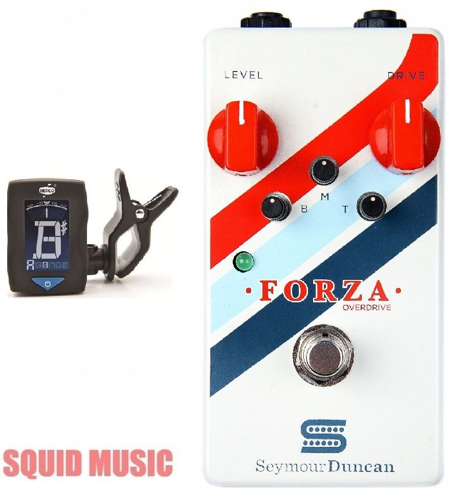 Seymour Duncan Forza Overdrive Guitar Effects Pedal  ( FREE DUNLOP TUNER )
