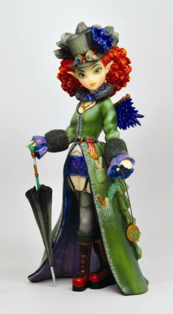 "MYKA JELINA GOTHIC FAIRY ART TEMPLE STEAMPUNK FIGURINE STATUE 8"" HEIGHT CUTE"