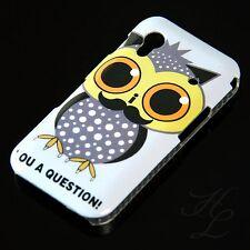 Samsung Galaxy ACE S5830 Hard Handy Case Schutz Hülle Etui Eule Bart Owl Schale