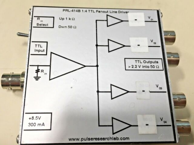 Pulse Research Lab Model Prl-414b 1 4 TTL Fanout Line Driver