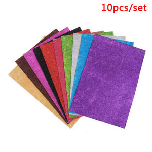 10Pcs-random-Diy-Card-A4-Sheets-Fixed-Glitter-Single-Sided-Craft-Glitter-Paper-Z