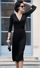 STELLA MCCARTNEY BLACK COTTON BLEND DRESS IT 42 UK 10