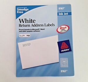 avery 8167 white mailing return labels 3 280 count inkjet 5 x 1 75
