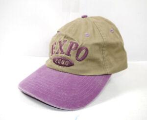 Audacieux Expo 2000 Hannover Base Cap Casquette Visiere A Cargo Vert Marron Violet Nouveau * F11-afficher Le Titre D'origine Performance Fiable