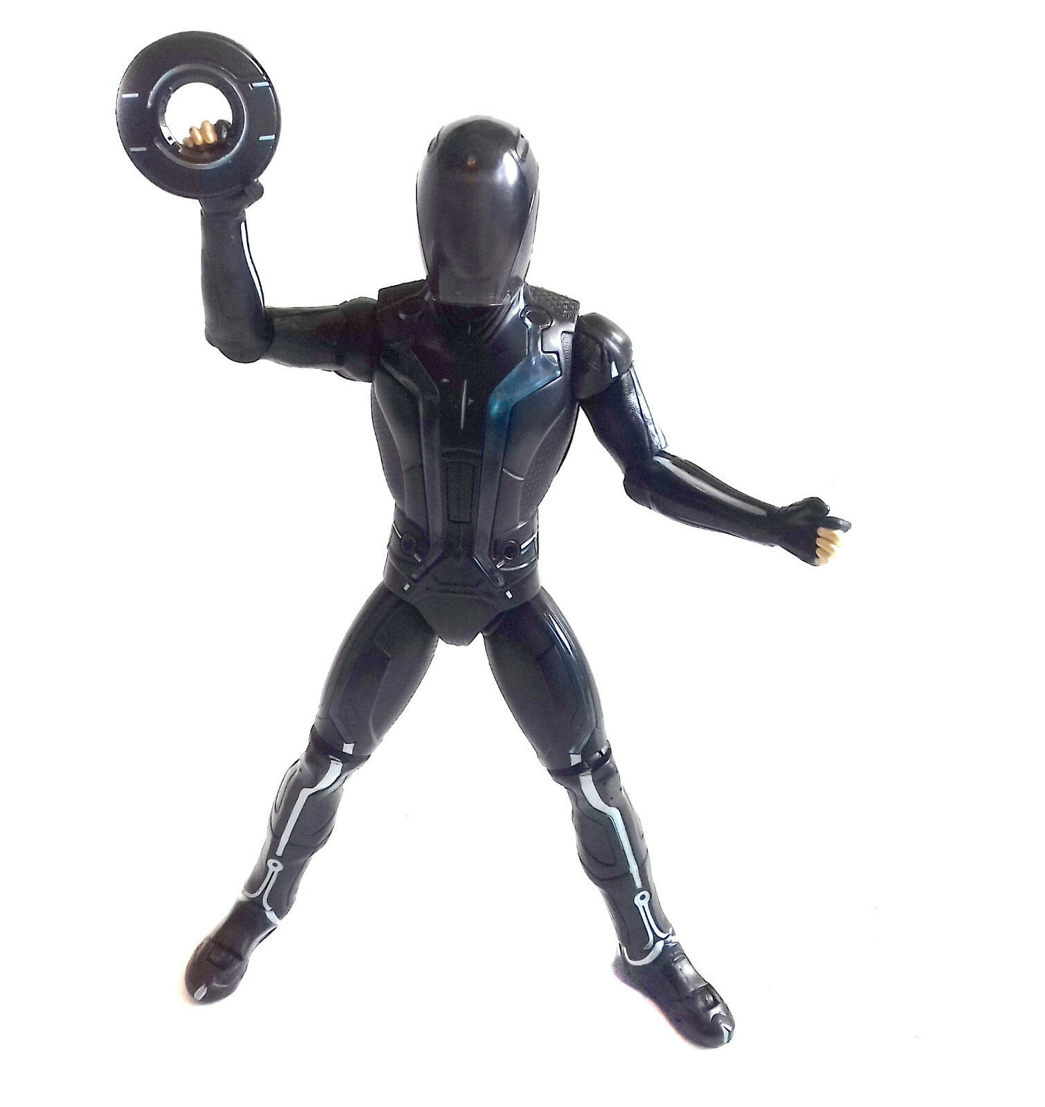 TRON Legacy Movie 12 12 12  action figure toy, with light up suit, VERY COOL  3e2807
