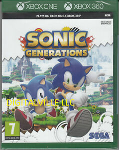 Sonic Generations Xbox 360 Xbox One Brand New Factory Sealed