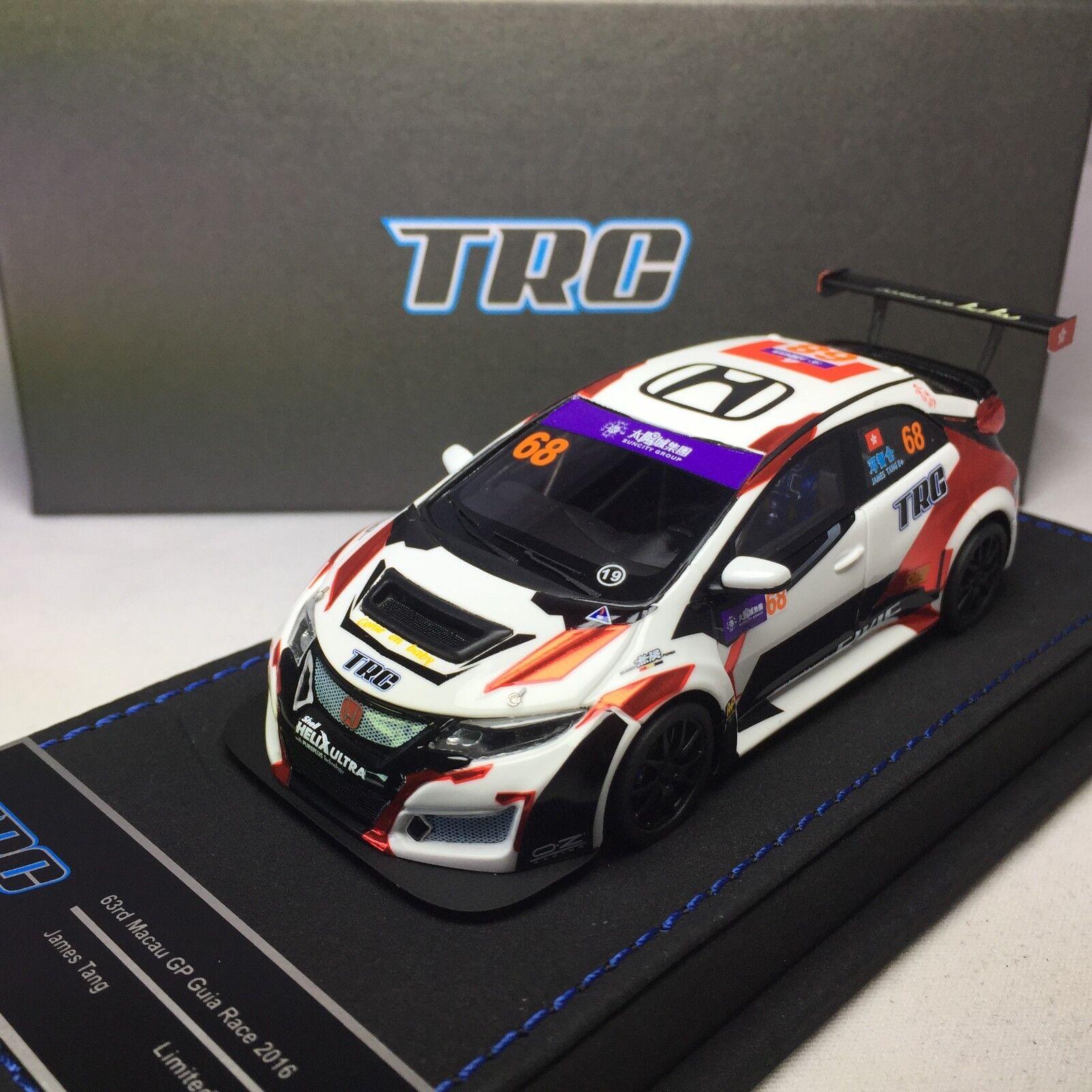 1/43 Peako Honda Civic FK2 TRC Race Car 63rd Macau GP 2018 Ltd 100 piezas