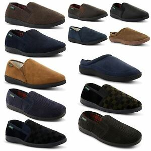 New-Mens-Dunlop-Comfortable-Soft-Slip-On-Slippers-Indoor-Shoes-Sizes-UK-6-12
