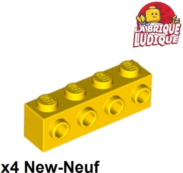 4164073 Lego Stein Modifiziert 1x4 mit 4 Noppen Gelb 4 Stück