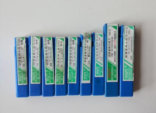 9Pcs HSS CNC Straight Shank 2 Flute End Mill Cutter Drill Bit 2//3//4//5//6//7//8//9//10