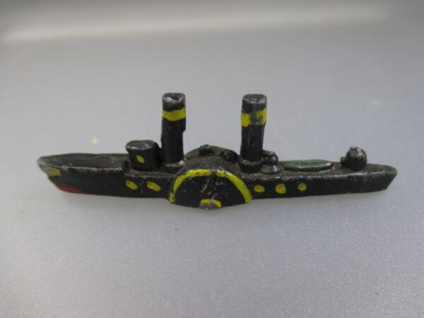 Clever Schiffsmodell 30er Jahre,raddampfer, Maßstab 1:1250 (nh21)