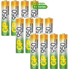 12 x GP AAA BULK Rechargeable Batteries 950 mAh (replaces 1000 mAh) HR03 Phone