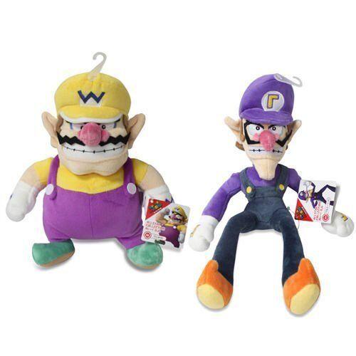 Sanei Set of 2 Wario /& Waluigi Plush Super Mario All Star Collection LittleBuddy