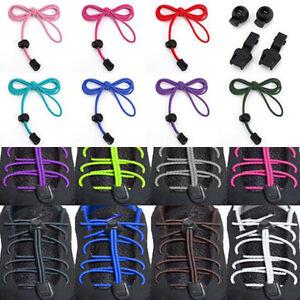 1Pair No-Tie Strong Elastic Canvas Sports Shoe Laces Bootlace Lock Shoelaces UK