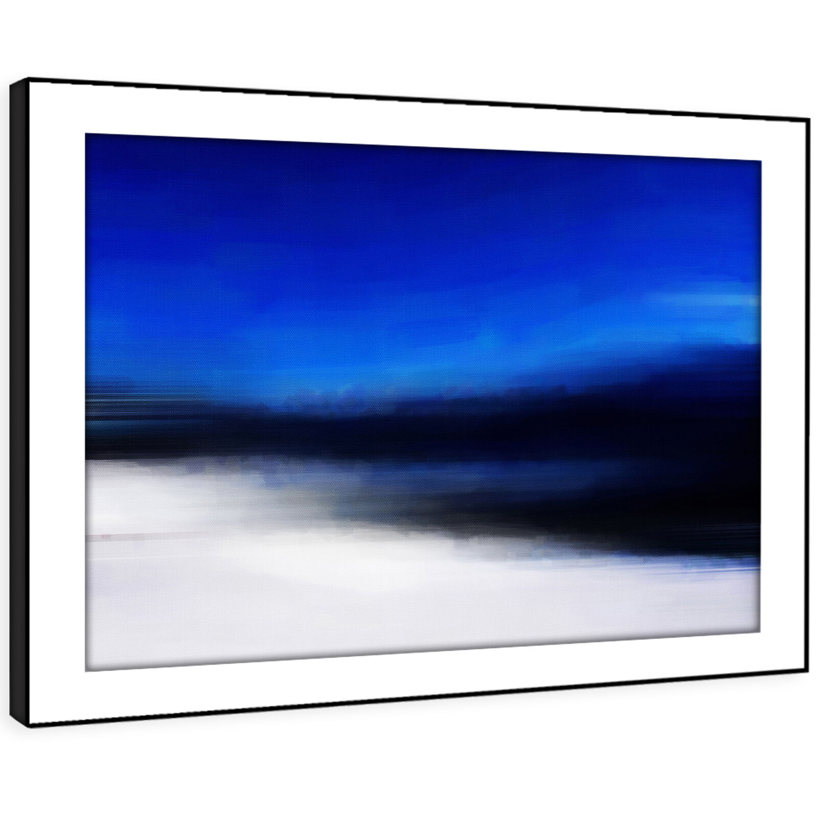 AB1143 Blau schwarz Weiß Modern Abstract Framed Wall Art Large Picture Prints