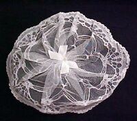 Chapel Prayer Usher White Lace Church Cap & Comb One Size Fits Most