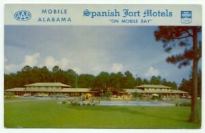 Mobile-AL-Spanish-Fort-Motel-Vintage-Postcard-Alabama