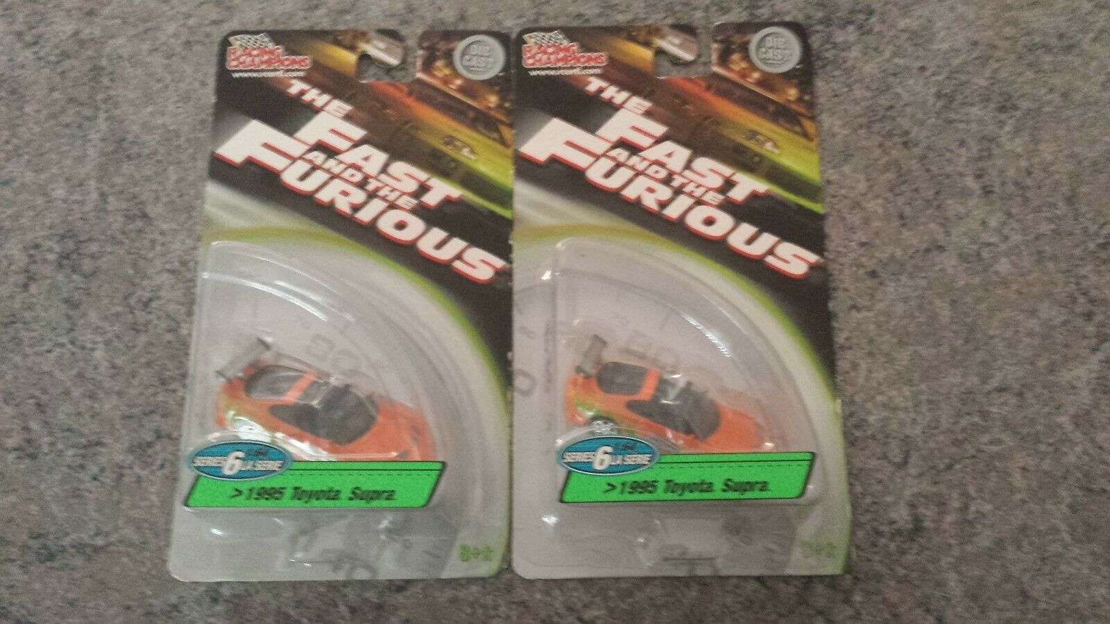 New 1995 TOYOTA SUPRA Orange FAST and FURIOUS (scale 1 64) Series 6 SEALED