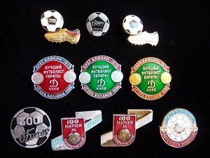 Set-of-10-USSR-FC-Football-Club-Sport-Oleg-Blokhin-Igor-Belanov-Player-Badge