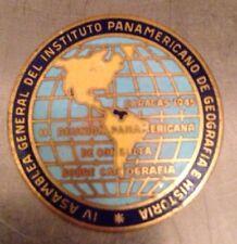 Bastian Bros Co Rochester NY 1945 Panamericano Brooch Pin Silver? 111 Reunion