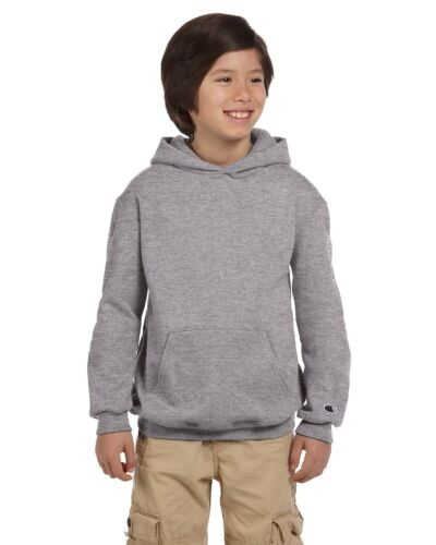 Champion Youth 9 oz Double Dry Eco Pullover Hood Long Sleeves S-XL S790 Hoodie