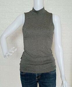 H&M Gray Turtleneck sleeveless Shirt Blouse size XS