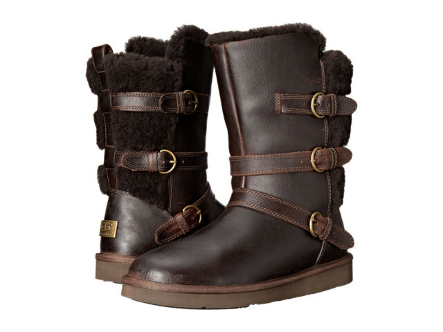 ecd132d3325 NEW WOMEN UGG AUSTRALIA BOOT BECKET CHOCOLATE 1008827 WATER RESISTANT  LEATHER