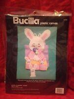 1990 Bucilla Plastic Canvas Kit pocket Of Bunnies Holder Sealed Easter