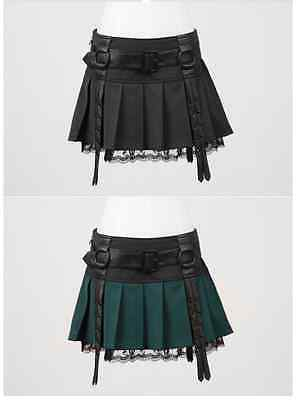 New Punk Rave Gothic Mini Skirt Black or Green Q-220 ALL STOCK IN AUSTRALIA!