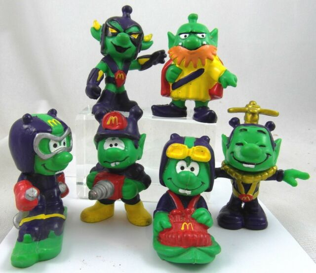 ASTROSNIKS 1984 Bully McDonalds Regional Set of 6 figuren Happy Meal PVC figures