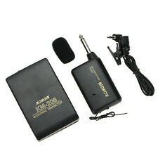 New Wireless FM Transmitter Receiver Lavalier Lapel Clip Microphone Mic System