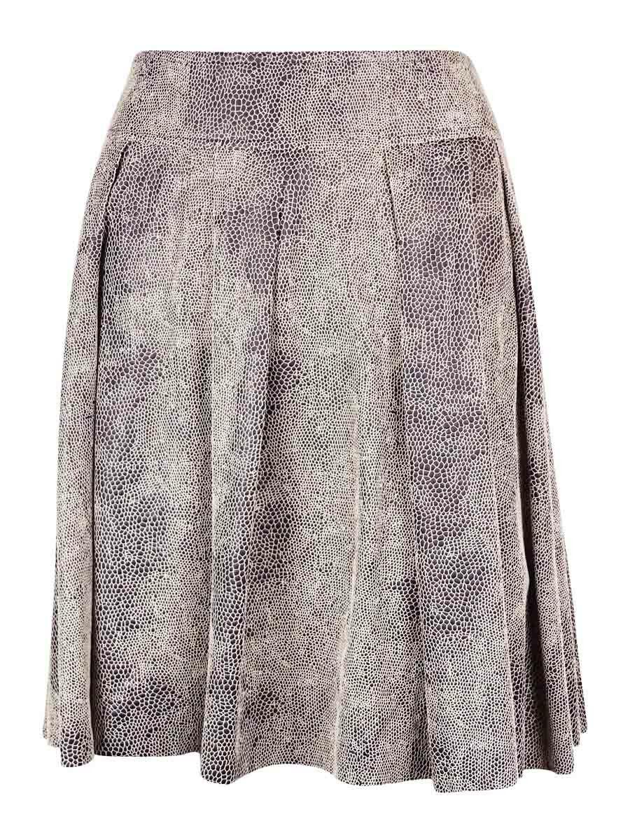 INC International Concepts Women's Snake Print A-Line Skirt