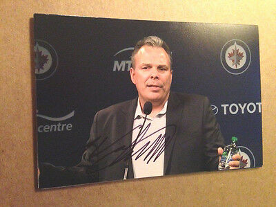 "Photos Sports Mem, Cards & Fan Shop Kevin Cheveldayoff Signed 4x6 Photo Winnipeg Jets ""gm"" General Manager #4 Finely Processed"