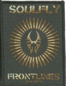 SOULFLY-frontlines-2007-WOVEN-SEW-ON-PATCH-official-merch-no-longer-made
