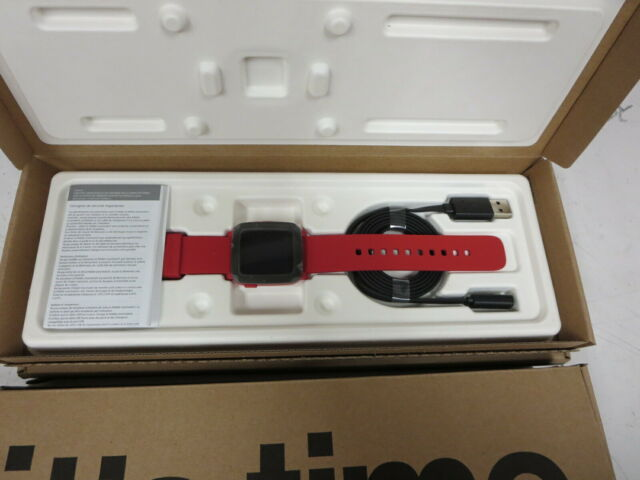 New Pebble Time Smartwatch Water resistant - Color Red Champion - 501-00039