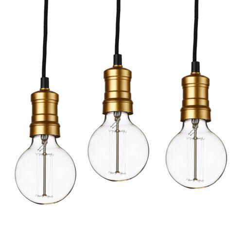 Lux.Pro 3x Hängeleuchte Lampenfassung Deckenleuchte Edison Retro Pendelleuchte