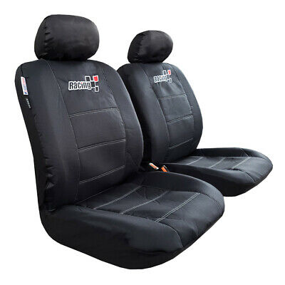 New 2pcs Front Waterproof Canvas Black Gray Car Seat Covers For TRD Tacoma