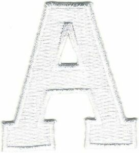1 white triangle cutout application patch